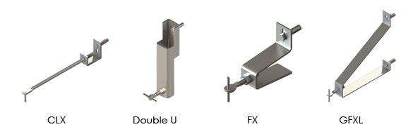ancres mécaniques FX GFXL CXL Double U